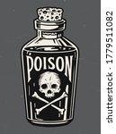 vintage hand drawn bottle of... | Shutterstock .eps vector #1779511082