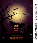 halloween poster and invitation ... | Shutterstock .eps vector #1779518975