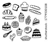 set of bakery and cake doodle... | Shutterstock .eps vector #1779530108