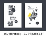 black and white geometric... | Shutterstock .eps vector #1779535685