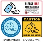 use hand sanitizer sign vector... | Shutterstock .eps vector #1779569798