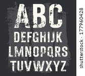 grunge alphabet vector set for... | Shutterstock .eps vector #177960428