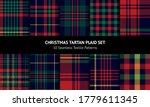 Tartan Plaid Pattern Set For...