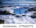 Small photo of Sea whirlpool view. Sea funnel