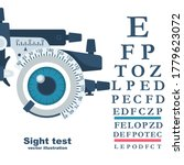 sight test. diagnosis of vision.... | Shutterstock .eps vector #1779623072