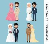set of characters cute muslim...   Shutterstock .eps vector #1779627995
