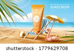 sunscreen ad template with palm ... | Shutterstock . vector #1779629708