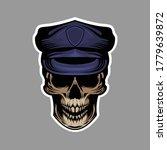 police skull design of... | Shutterstock .eps vector #1779639872