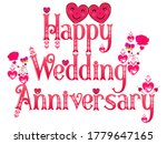 wedding anniversary. happy... | Shutterstock .eps vector #1779647165