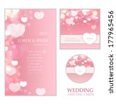 wedding bokeh cards set | Shutterstock .eps vector #177965456