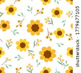floral seamless pattern with... | Shutterstock .eps vector #1779677105