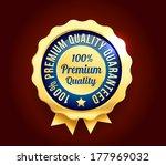 golden premium quality badge | Shutterstock .eps vector #177969032