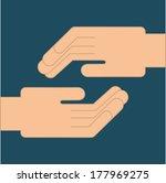 teamwork design over  blue ... | Shutterstock .eps vector #177969275