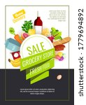 promo sale flyer with groceries.... | Shutterstock .eps vector #1779694892