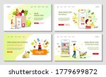 set of web pages for grocery...   Shutterstock .eps vector #1779699872