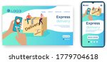 express delivery.the concept of ... | Shutterstock .eps vector #1779704618