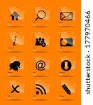 vector icon set for web. | Shutterstock .eps vector #177970466