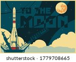 flight to the moon  space... | Shutterstock .eps vector #1779708665