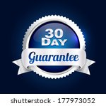 silver 30 day quality badge | Shutterstock .eps vector #177973052