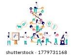 dna research  vector flat... | Shutterstock .eps vector #1779731168