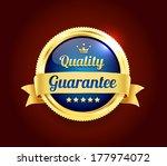 golden premium quality badge | Shutterstock .eps vector #177974072
