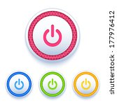 power buttons icon set isolated ...