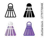 simple badminton icon design in ...