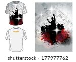 t shirt design. vector  | Shutterstock .eps vector #177977762