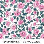 floral background. flower rose...   Shutterstock .eps vector #1779796208