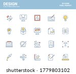 set of flat line filled icons... | Shutterstock .eps vector #1779803102