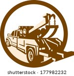 illustration of a tow wrecker... | Shutterstock .eps vector #177982232