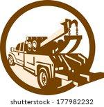 illustration of a tow wrecker... | Shutterstock .eps vector #177982232