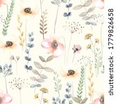 watercolor floral seamless... | Shutterstock . vector #1779826658