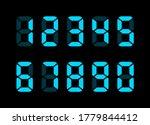 electronic numbers. digital... | Shutterstock .eps vector #1779844412