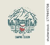 camping season with campfire ... | Shutterstock .eps vector #1779845708