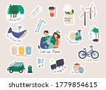 collection of ecology stickers... | Shutterstock .eps vector #1779854615