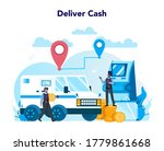 armored cash truck security...   Shutterstock .eps vector #1779861668
