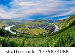 scenic moselle river loop at Leiwen, Trittenheim in Germany