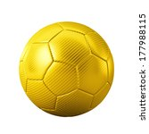 3d Gold Classic Soccer Ball On...