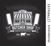 butcher meat shop badge or...   Shutterstock .eps vector #1779896192