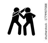 kick karate men icon. simple...
