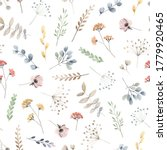 watercolor floral seamless... | Shutterstock . vector #1779920465