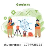 geodesy science concept. land... | Shutterstock .eps vector #1779935138
