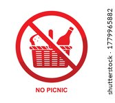 no picnic sign isolated on... | Shutterstock .eps vector #1779965882