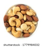Nuts In Top View Circle Shaped...