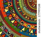 colored tribal design  abstract ... | Shutterstock .eps vector #177999188