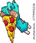 Cartoon Zombie Hand Holding A...