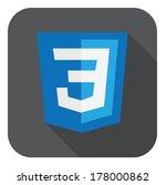 vector illustration of blue... | Shutterstock .eps vector #178000862