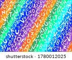 abc pattern. cute alphabet.... | Shutterstock .eps vector #1780012025