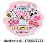 Sleep Masks And Quotes Vector...